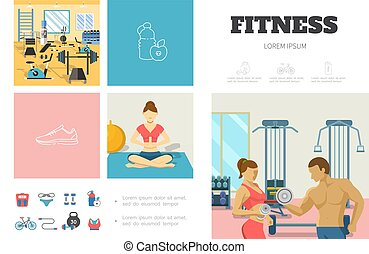 Flat Sport Infographic Template