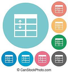 Flat Spreadsheet adjust table row height icons
