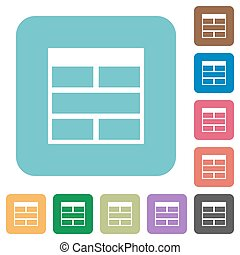 Flat Spreadsheet horizontally merge table cells icons