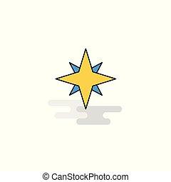 Flat Star Icon. Vector