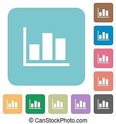 Flat statistics icons