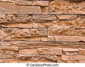 flat stone wall