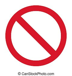Flat Stop Icon isolated on white background. Modern vector illustration