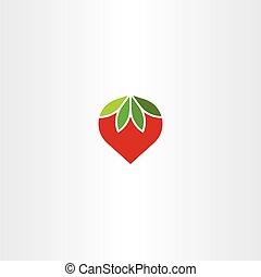 flat strawberry vector icon symbol
