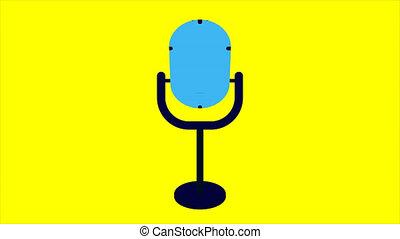 Flat studio microphone