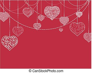 Flat St.valentine and Wedding Holiday Background