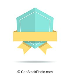 Flat style badge icon. Vector illustration with simple design