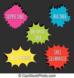 Flat Style big sale label design