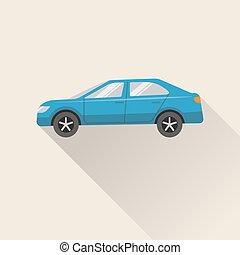 Flat style car icon