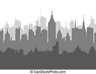 city skyline vector illustration