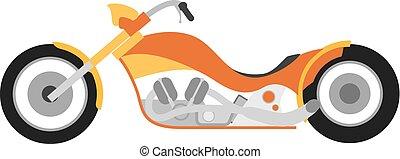 Flat style custom motorcycle