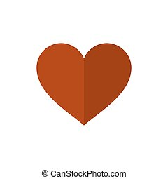 Flat Style Heart Icon on White Background. Vector