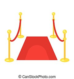 flat style illustration of red carpet.