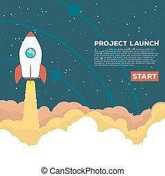 Rocket goes up
