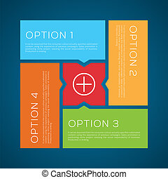 Flat Style Options Vector Background