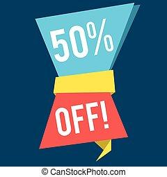 Flat style sale banner design