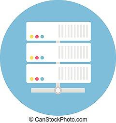 Flat style server vector icon illustration.