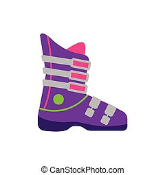 Flat style skiing snowboarding boot, side view