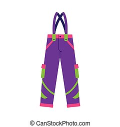 Flat style skiing, snowboarding feather pants