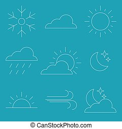 Thin line Icon Weather Vector illustration