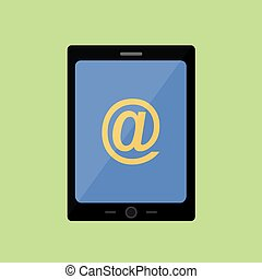 Flat style touch pad with mail sign