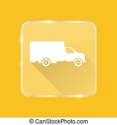 Flat style truck silhouette icon