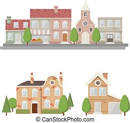 Flat style Urban Landscape