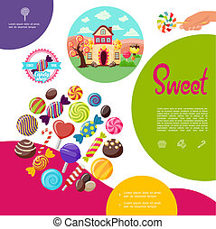 Flat Sweet Products Template