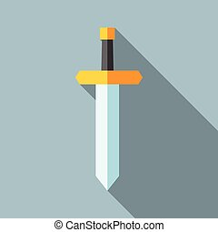 Flat sword, long shadow