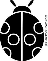 flat symbol lady bug