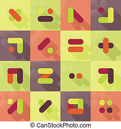 flat symbols