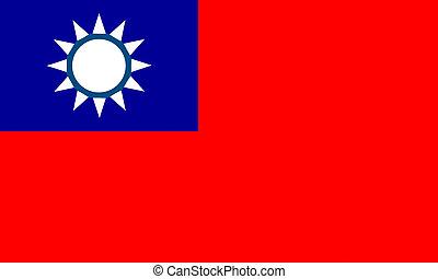 flat taiwanese flag