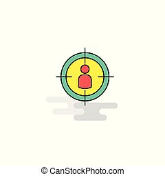 Flat Target Icon. Vector