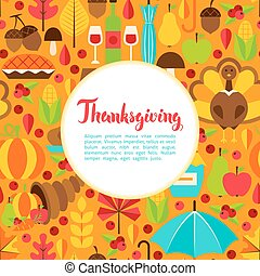 Flat Thanksgiving Day Greeting