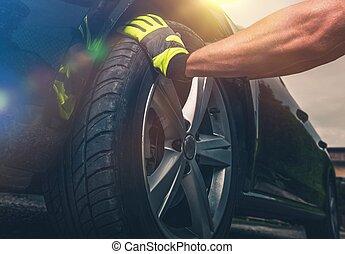 Flat Tire Replacing