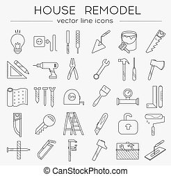 Flat tools icons