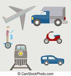 Flat Transportation Icons