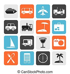 Flat Travel and tourism icons