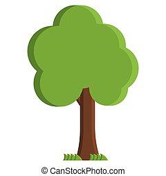 Flat tree icon