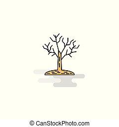 Flat Tree Icon. Vector