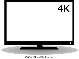 Flat TV icon
