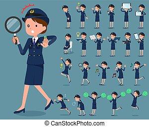 flat type Bun hair mom - flat type police Women 2