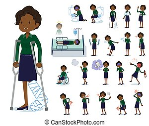 flat type business black women_sickness - A set of women...