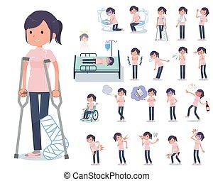 flat type chiropractor women_sickness - A set of...