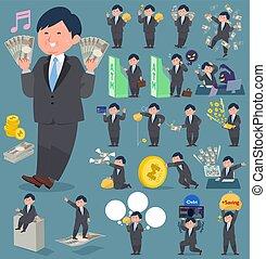 flat type fat businessman_money
