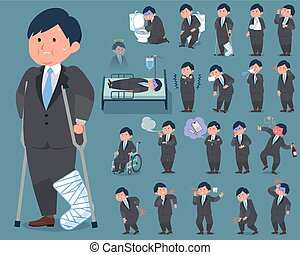 flat type fat businessman_sickness