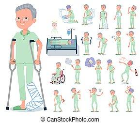 flat type patient old men_sickness - A set of patient old...