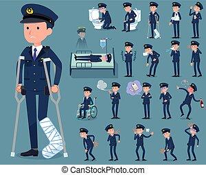 flat type police men_sickness