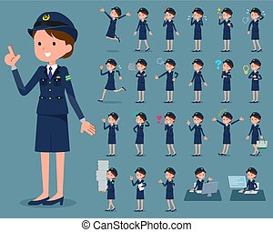 flat type police Women