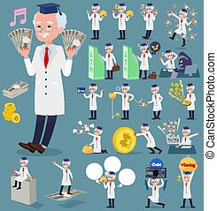 flat type Research Doctor old men_money